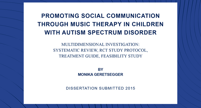 dissertations on music therapy