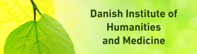Danish Institute of Humanities and Medicine illustrated by a leaf on a yellow and bright green background