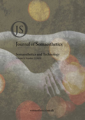 Cover Journal of Somaesthetics Vol 4 No 2 (2019): Somaesthetics and Technology